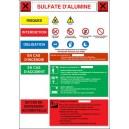 Affiche Sulfate d'alumine