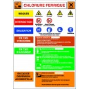 Chlorure Ferrique...Fiche de sécurité A3 I.N. sur PVC 1mm