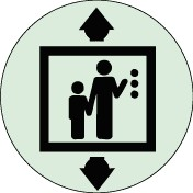 Plaque Ascenseur Picto