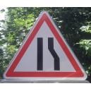 Chaussée rétrécie à droite Classe 1