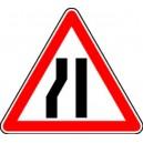 Attention chaussée rétrécie à gauche Classe 2 -500mm