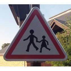 Panneau Attention enfants Classe 2