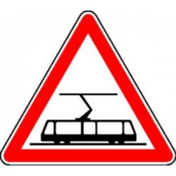 Panneau Traversée de voies de tramway Classe 1