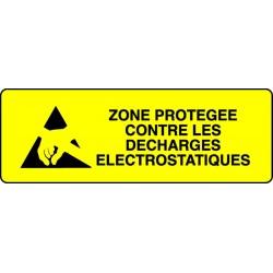 Panneau Zone protégée contre les décharges..