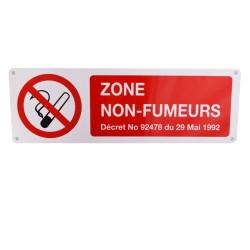 Panneau Zone Non-Fumeurs avec décret
