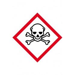 Etiquette Matières Toxiques Velin adhésif