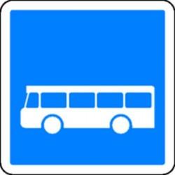 Panneau Arrêt d'Autobus Classe 2