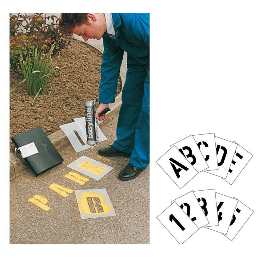 Kit pochoir 15 cm de haut Chiffres et lettres