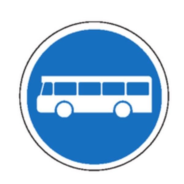 Panneau Autobus obligatoire Classe 1