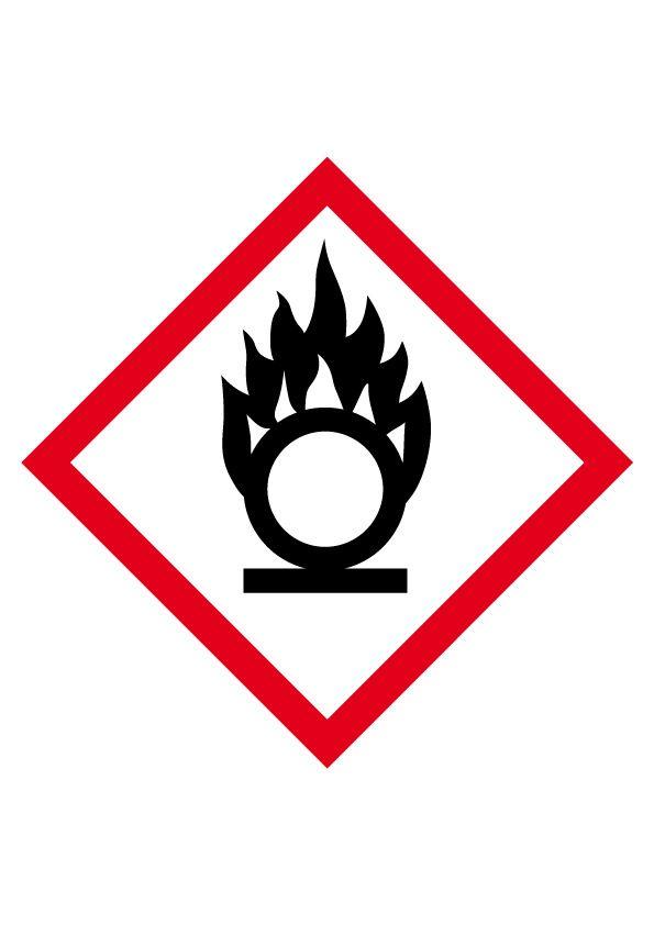 Etiquette Comburant Vinyle autocollant