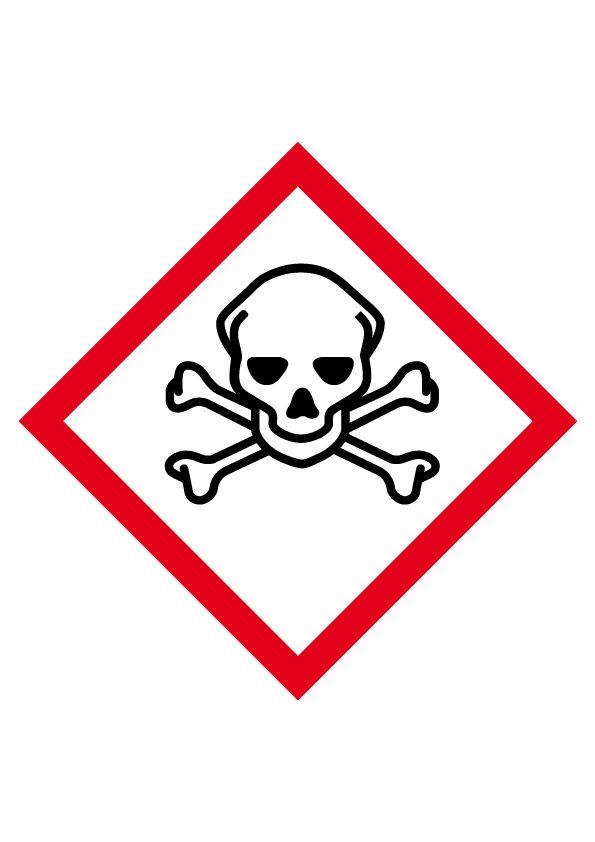 Etiquette Matières Toxiques Vinyle