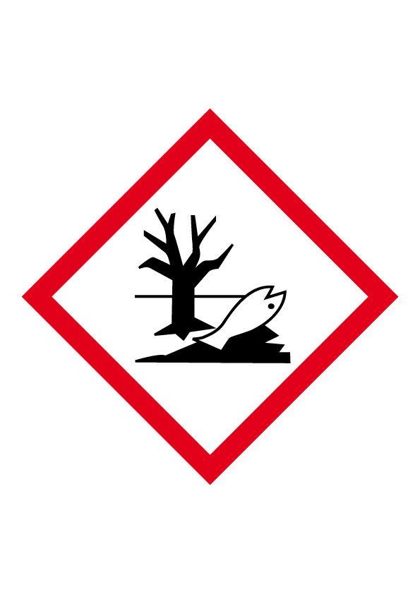 Affiche Danger pour le milieu aquatique 16x16 mm Vinyle