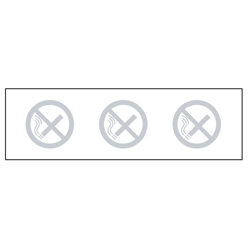 Autocollant pour vitre Bande Cristal Défense de fumer Picto