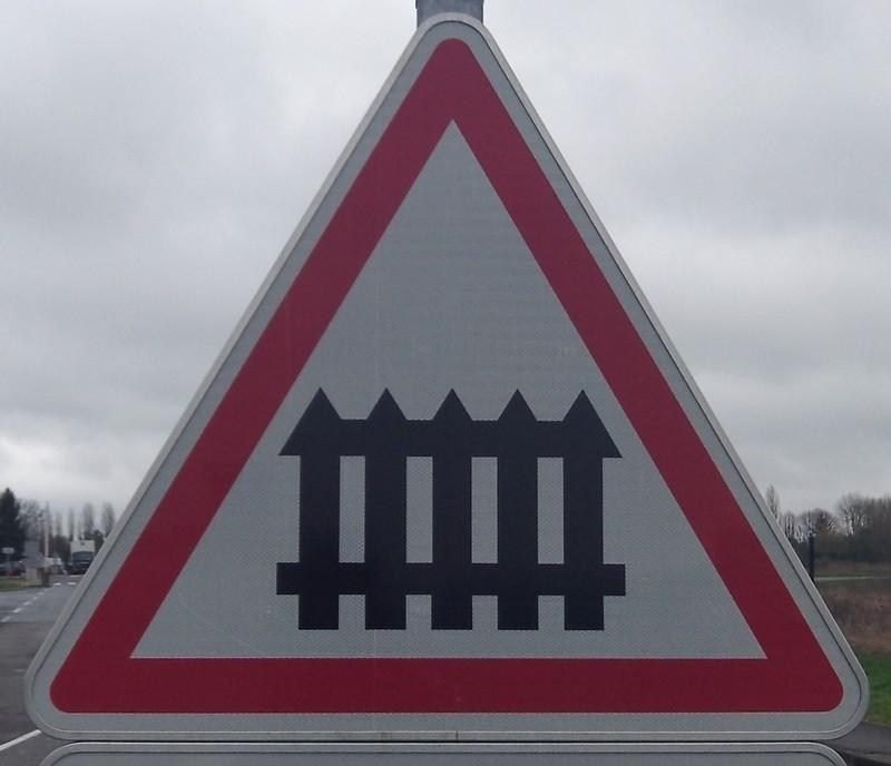 Panneau Barrière pour passage à niveau Classe 1