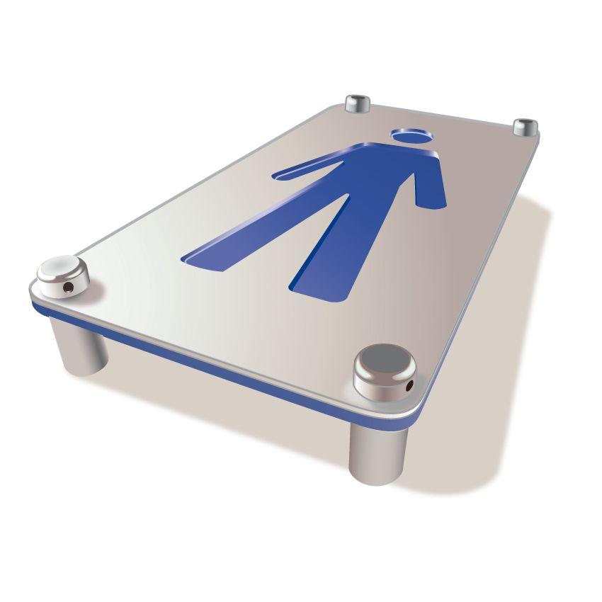 Plaque Toilettes Hommes