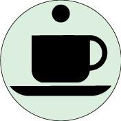 Plaque Caféteria Picto