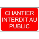 Chantier Interdit au Public 300x200mm(Lot de 5)