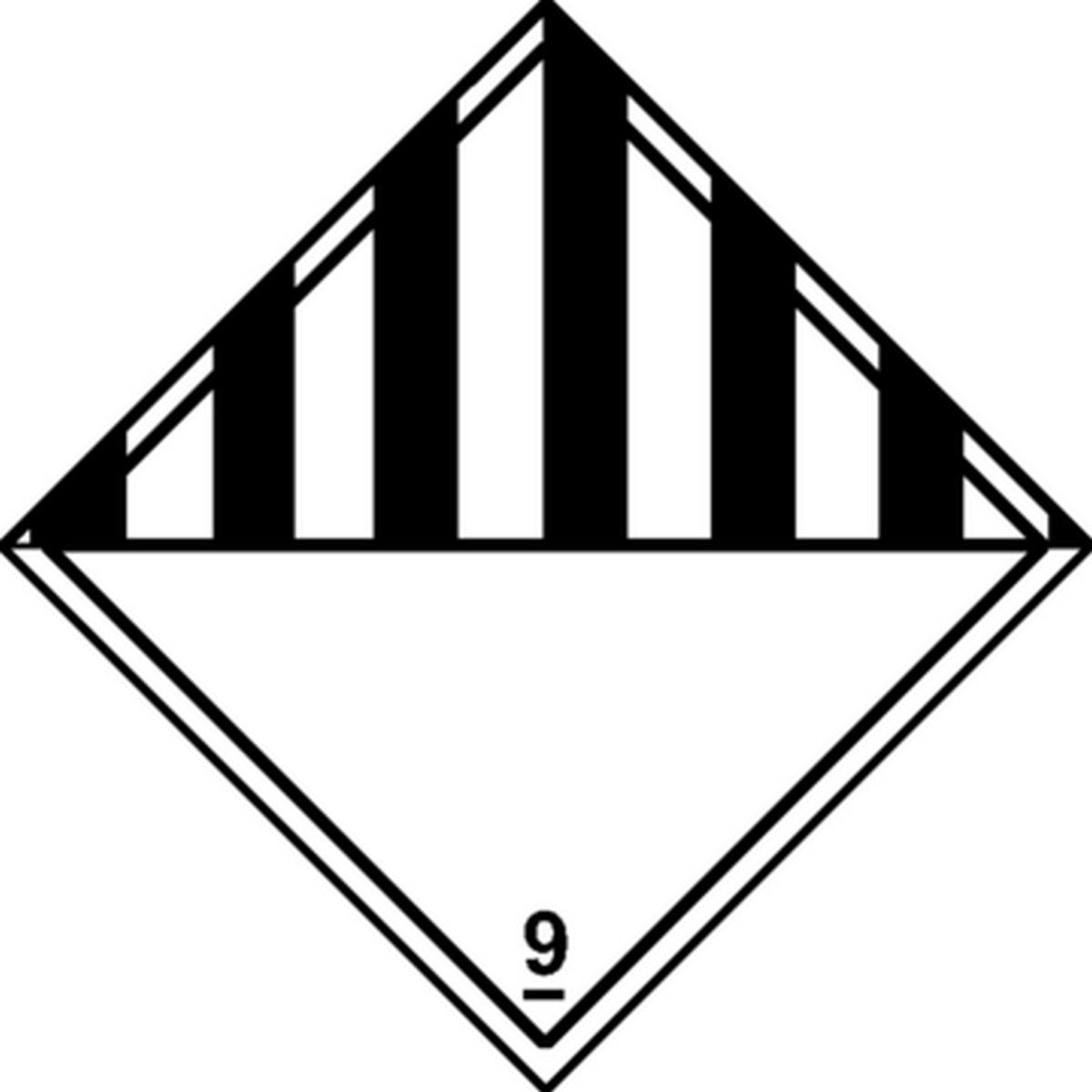 Etiquette Matières et objets dangereux divers Classe 9