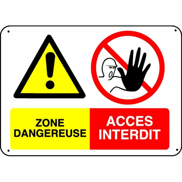 Panneau Zone Dangereuse Acc 232 S Interdit Stocksignes