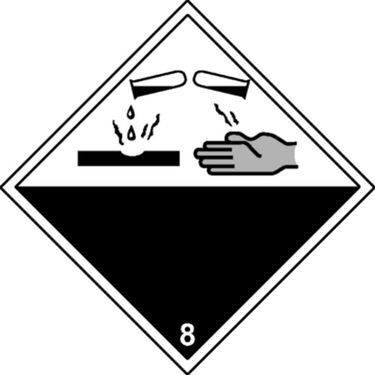 Etiquette Matières Corrosives Classe 8