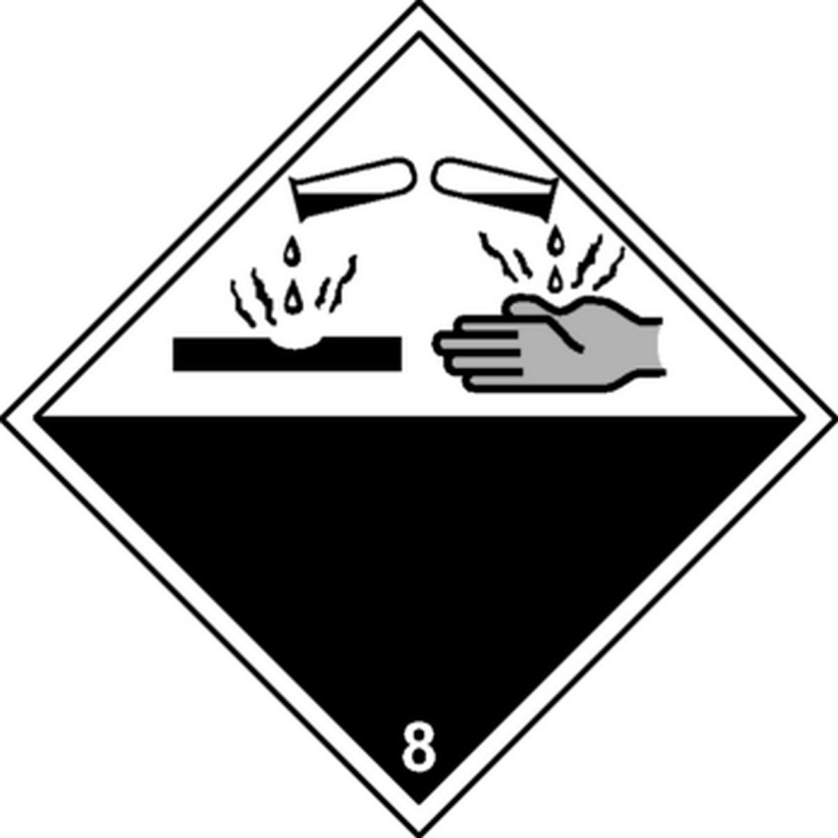 Panneau Matières Corrosives Classe 8