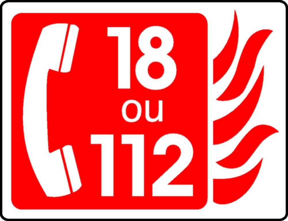 Panneau 18 ou 112 +Tel Picto