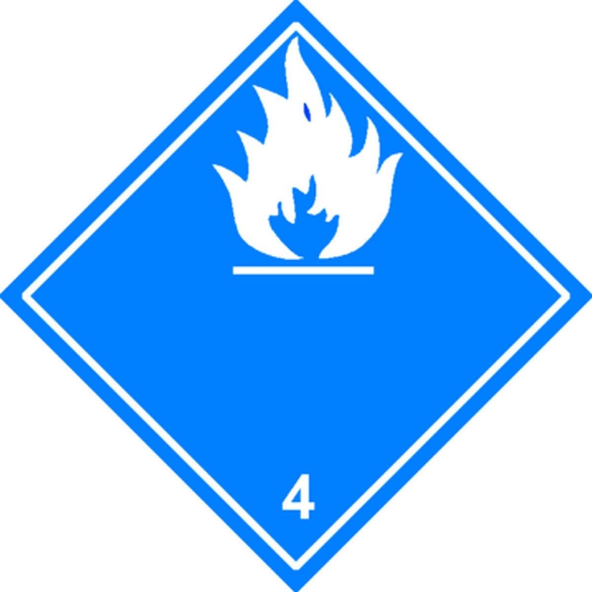 Etiquette Dangereux au contact de l'humidité Classe 4.3