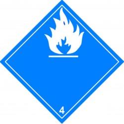 Panneau Dangereux au contact de l'humidité Classe 4.3