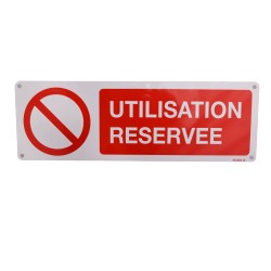 Panneau Utilisation réservée