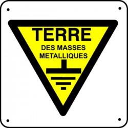 Panneau Terre des masses métalliques Picto