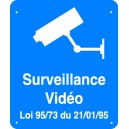Surveillance Vidéo Fond bleu