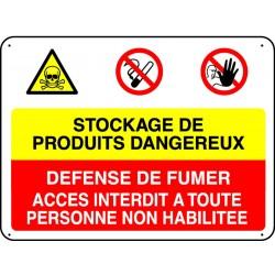 Panneau Stockage de Produits dangereux