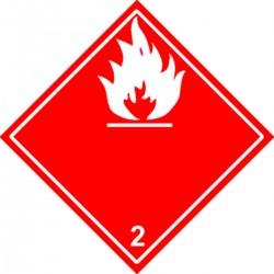 Etiquette Gaz Inflammables Classe 2.1