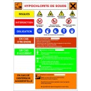 Hypochlorite de soude...Fiche de sécurité A3 I.N. sur PVC 1mm