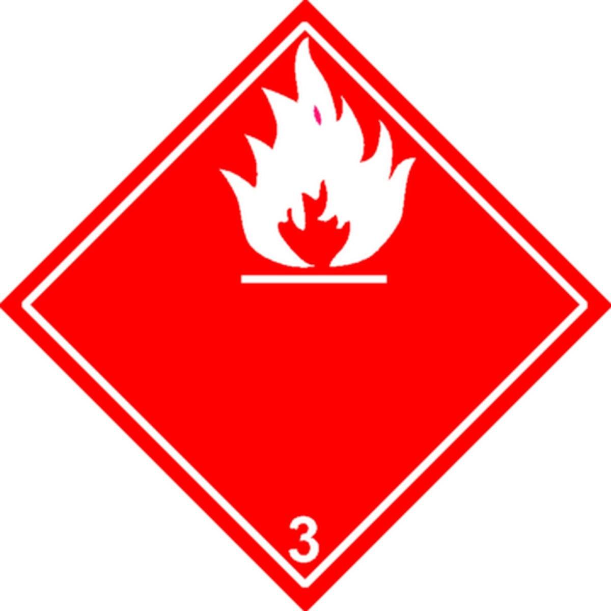 Etiquette Liquides Inflammables Classe 3