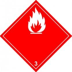 Panneau Liquides inflammables Classe 3