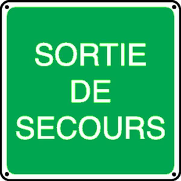 Panneau Sortie de Secours