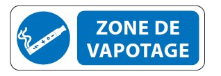 Panneau Zone de Vapotage