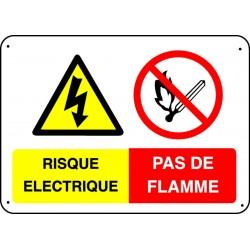 Panneau Risque électrique-Pas de flamme