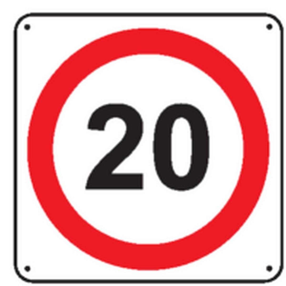 Panneau 20 Km/h
