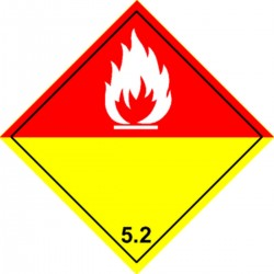 Panneau Peroxydes Organiques Classe 5.2