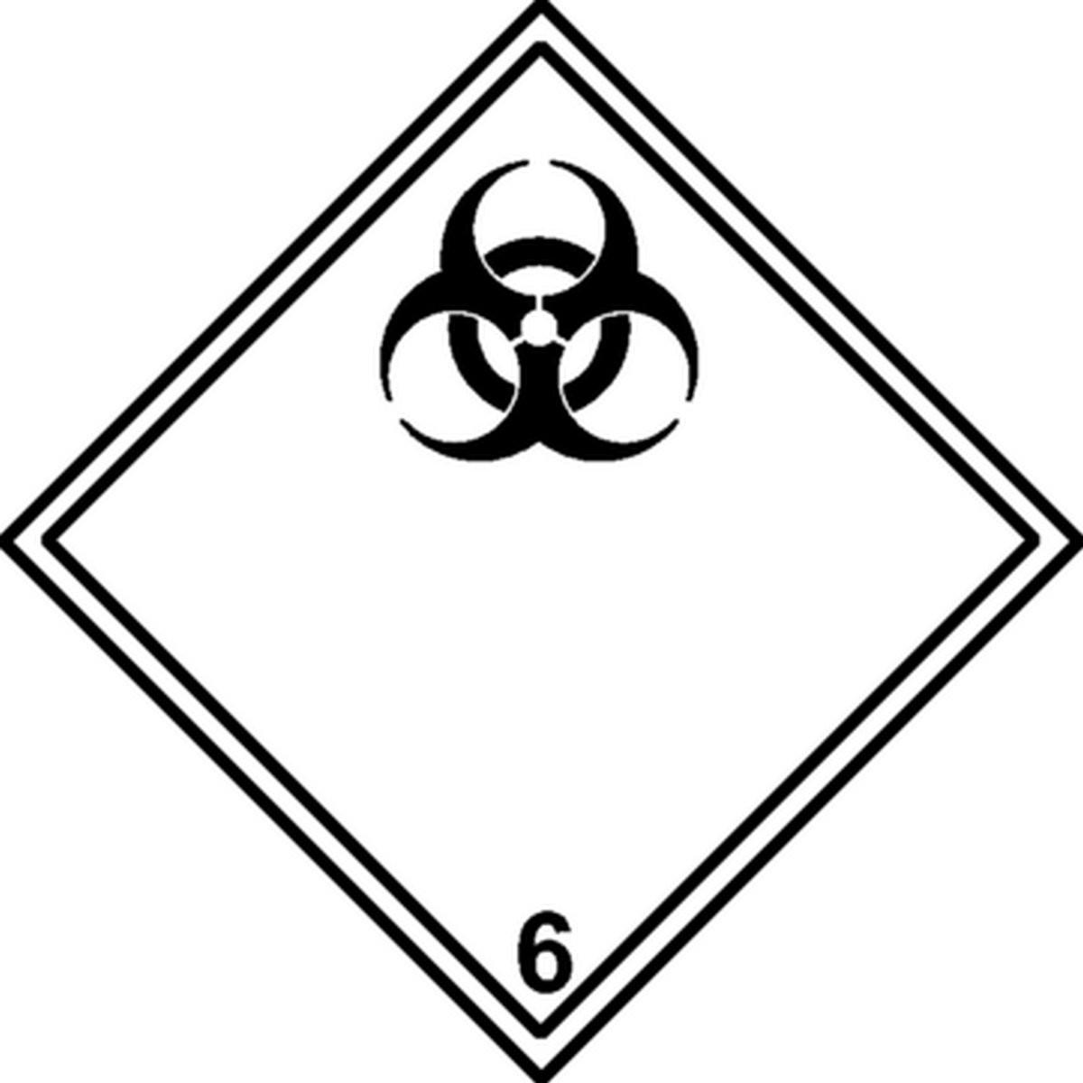 Etiquette Matières infectieuses Classe 6.2
