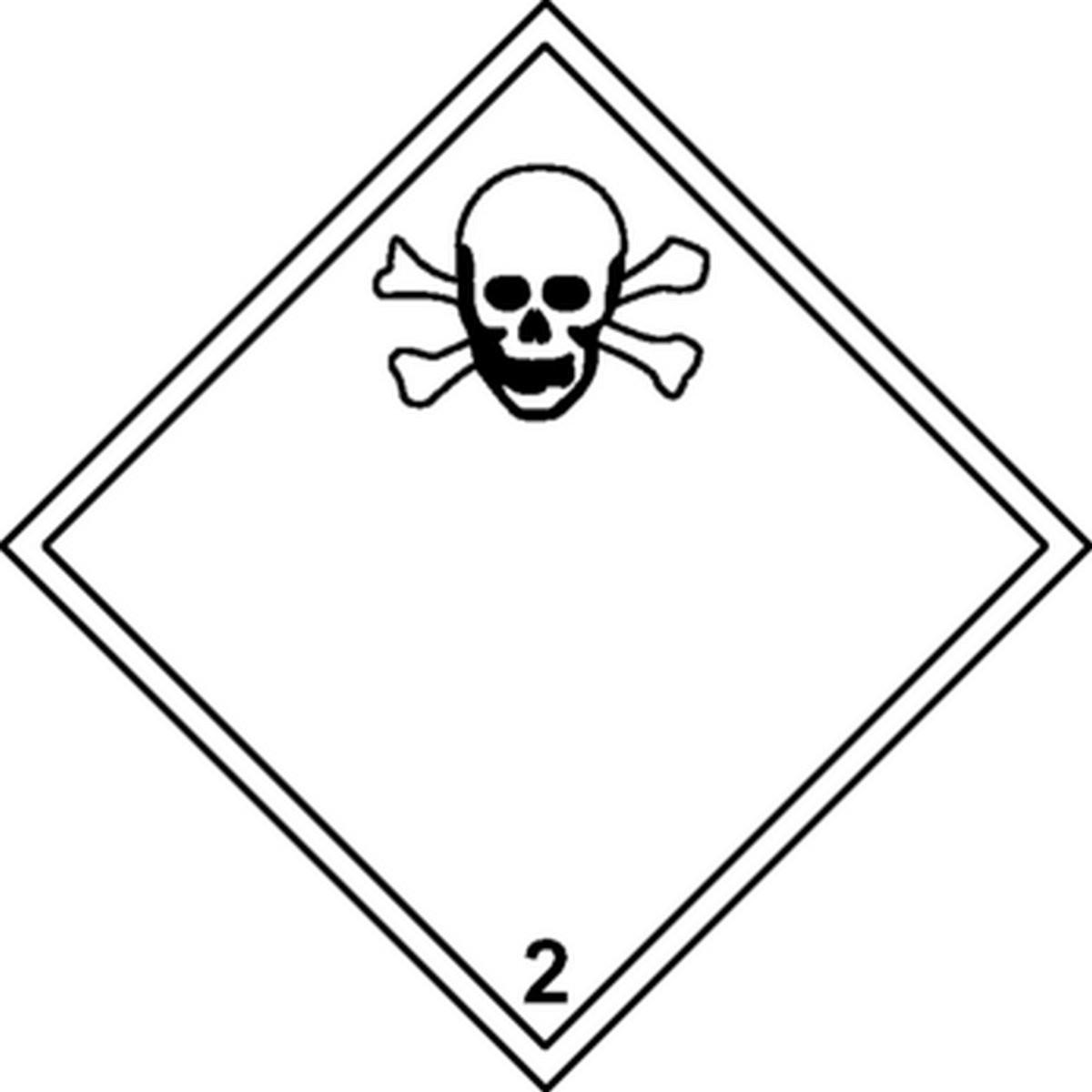 Un panneau danger matières toxiques