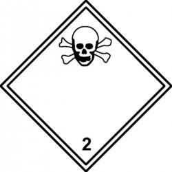 Etiquette Matières Toxiques Classe 2 Velin