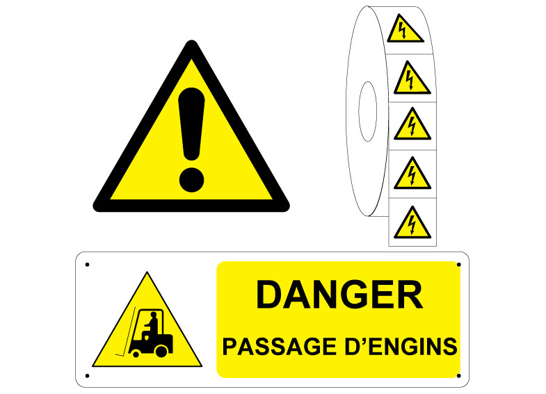 Panneau et Pictogramme Danger