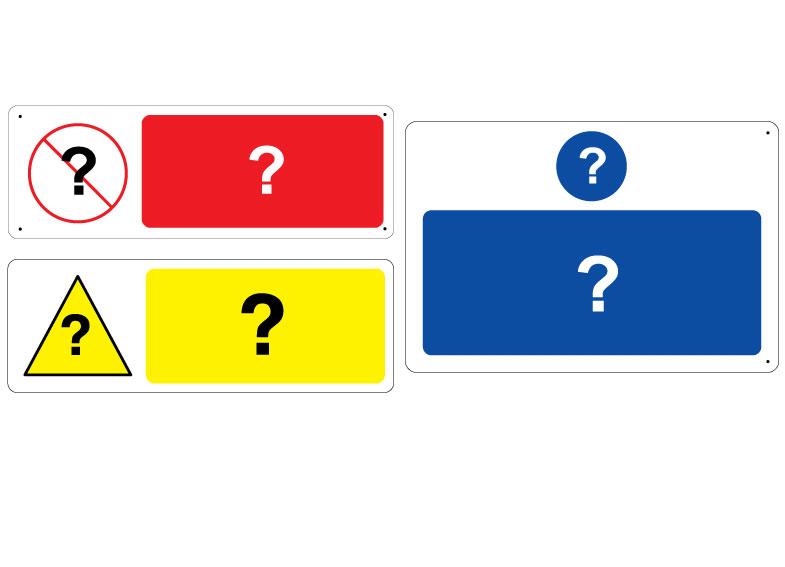Panneau personnalise et pictogramme personnalise
