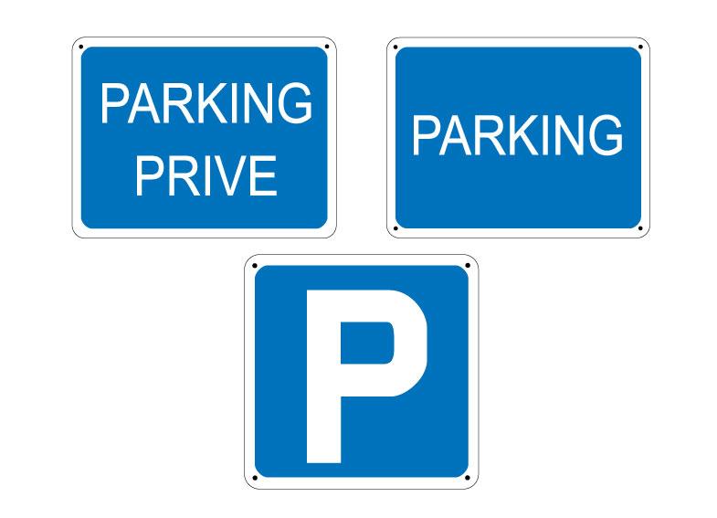 Panneau parking prive